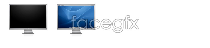 Large widescreen Apple icon