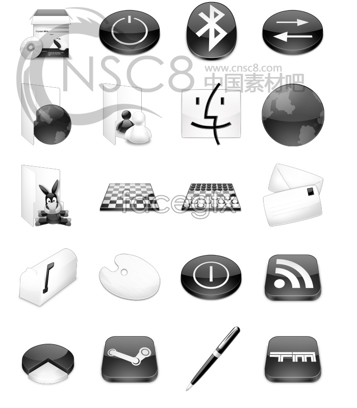 Lazy ass software application icons