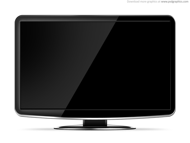 LCD HD TV template PSD