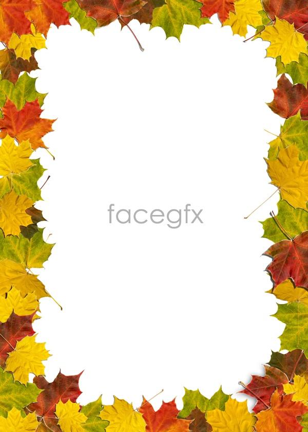 Leaf material borders 05 psd – Over millions vectors ...