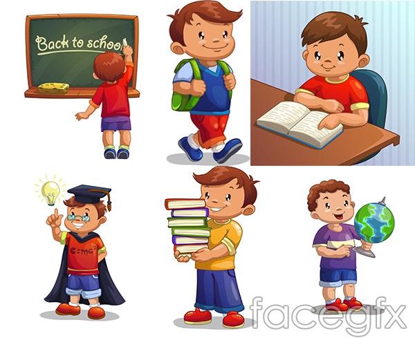 Learning Cartoon Children Vector Over Millions Vectors