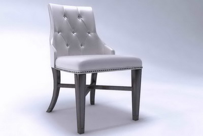 Leather wooden chair 3D models