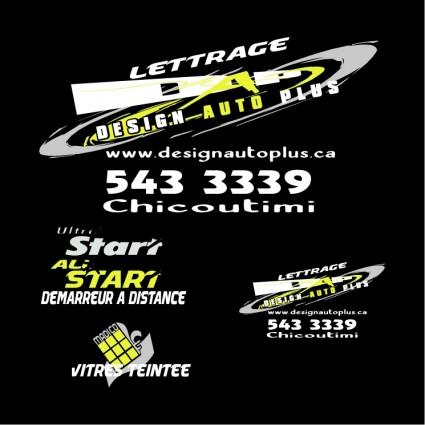 lettrage logo