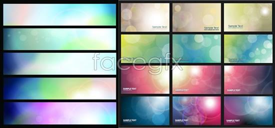 Light gradient banner Vector