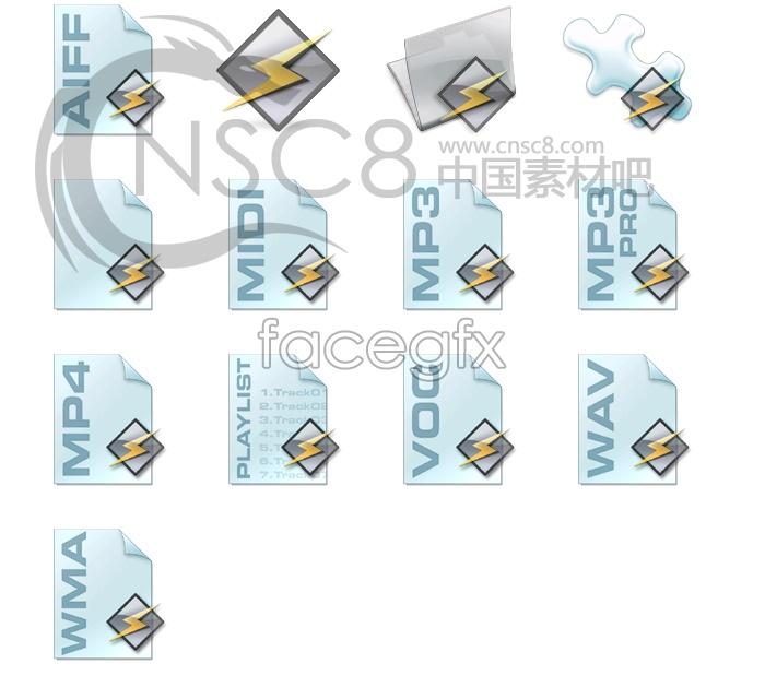 Lightning series icons