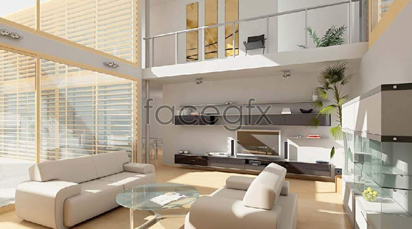 Living room effect chart 3 3D model