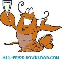 Lobster Drinking 2