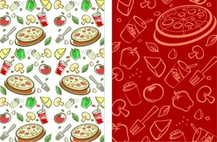 Lovely background series vector material 3