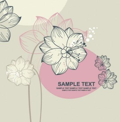 lovely flowers vector 1