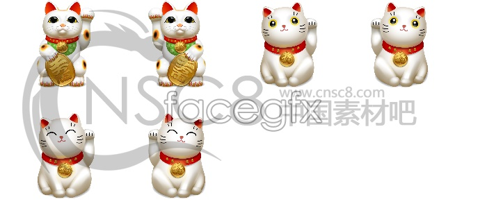 Lucky cat icons