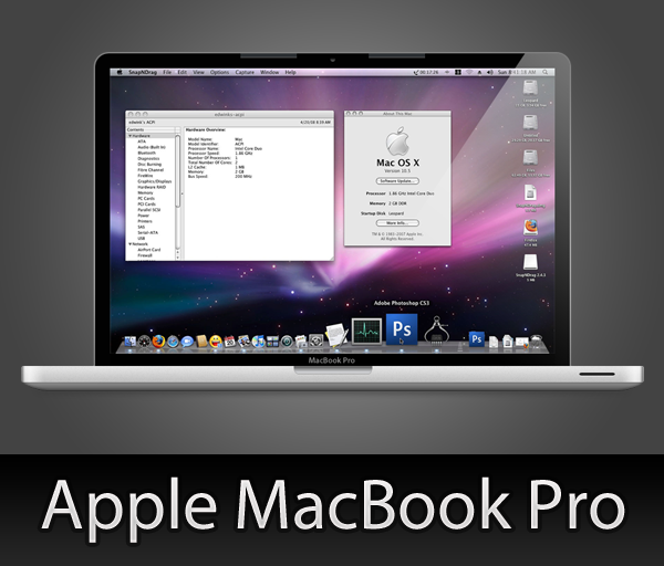 MacBook Pro with PSD