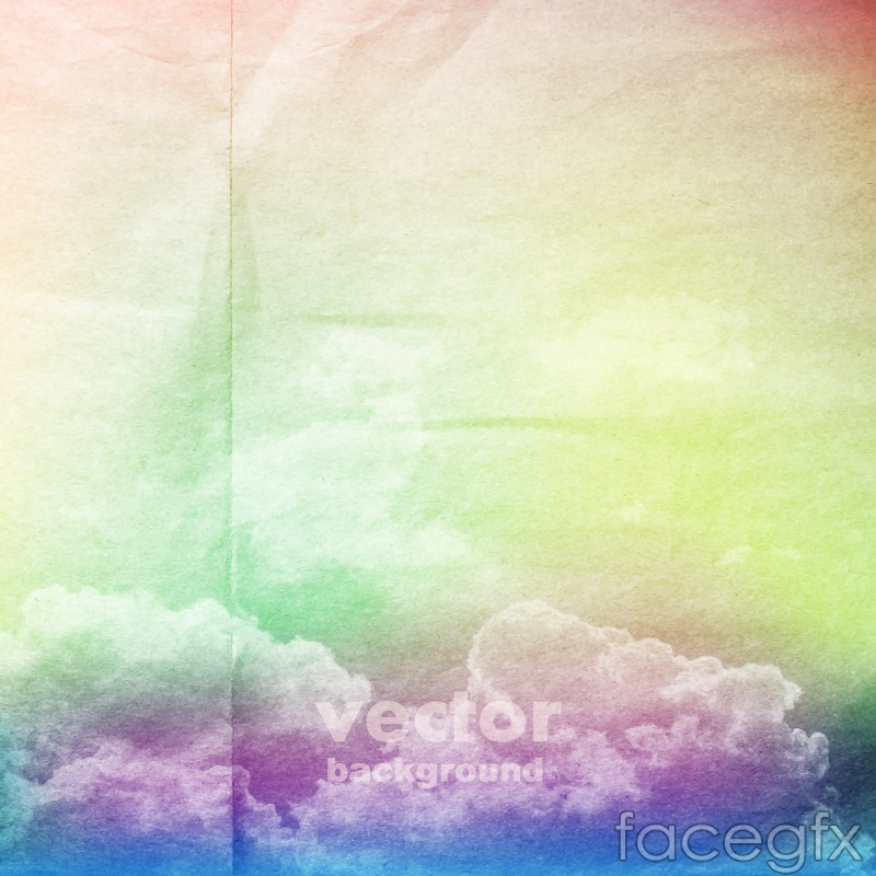 Magic cloud layer of folded paper background vector