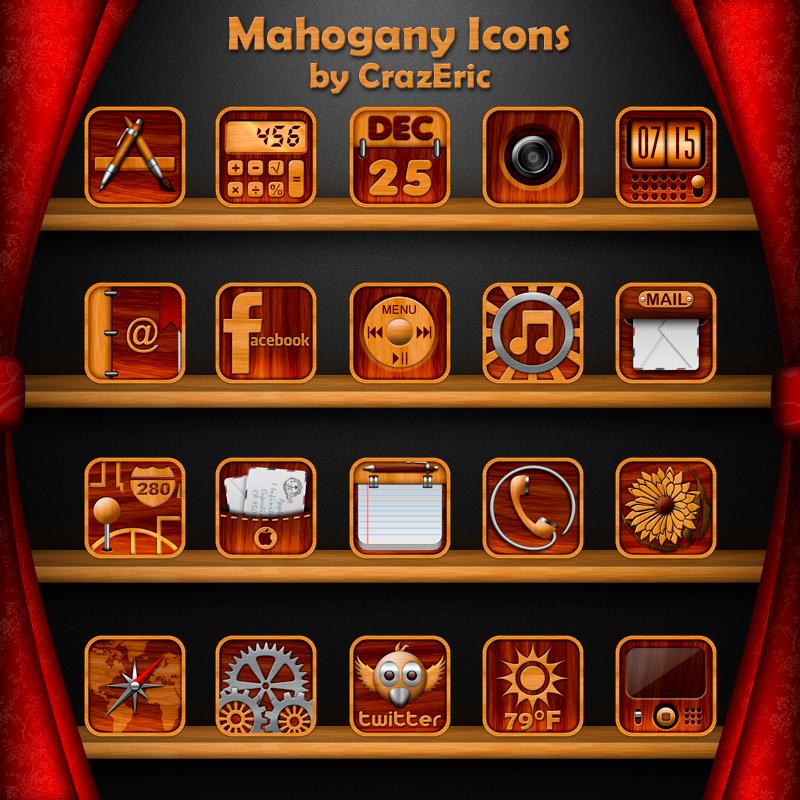 Mahogany Icons 256px