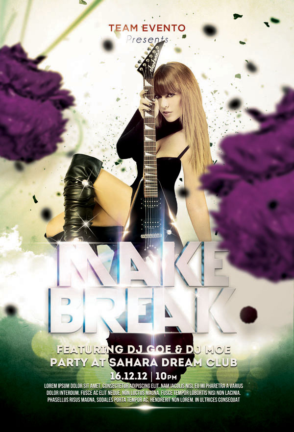 Make Break Flyer Party