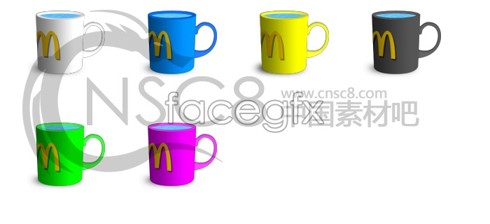 McDonald's color mug icon
