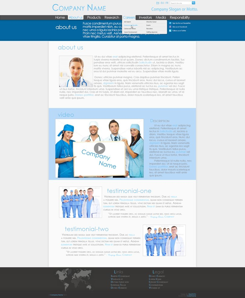 Medical Co. Professional Web Design [Page 2]