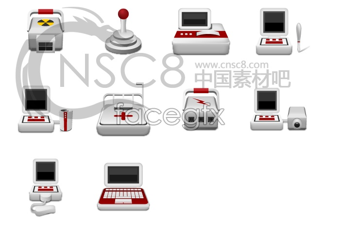Medical equipment computer icons