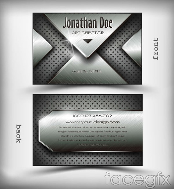 Metal business cards vector – Over millions vectors, stock