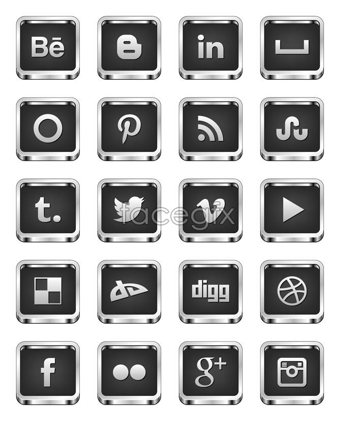 Metal mad social media icons