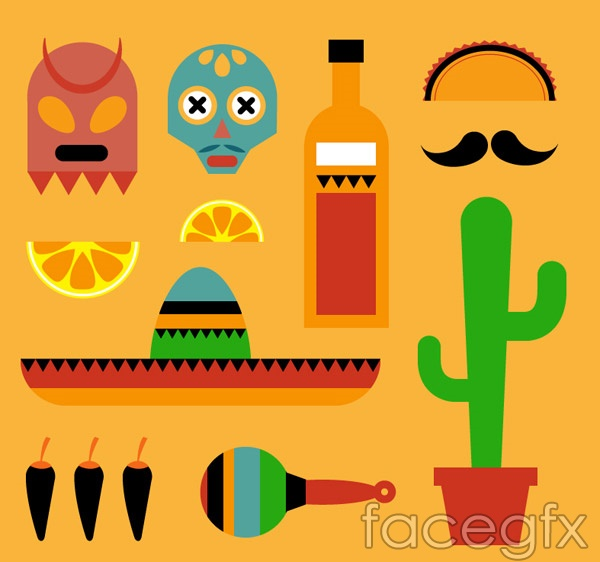 Mexico element icons vector over millions vectors stock photos mexico element icons vector toneelgroepblik Images