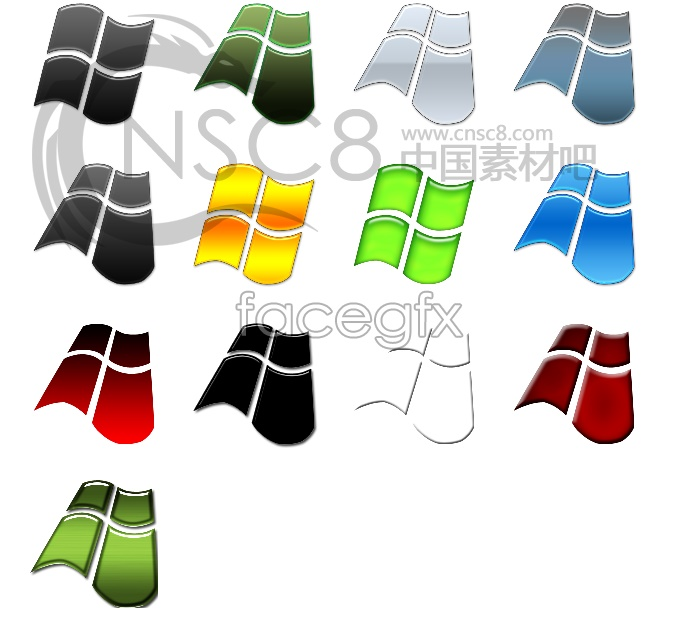Microsoft flag icons