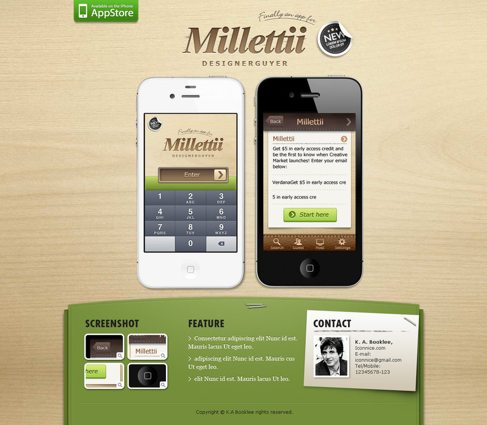 Millettii Ios Web Template