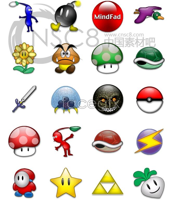 Mini cute! Bright small icons