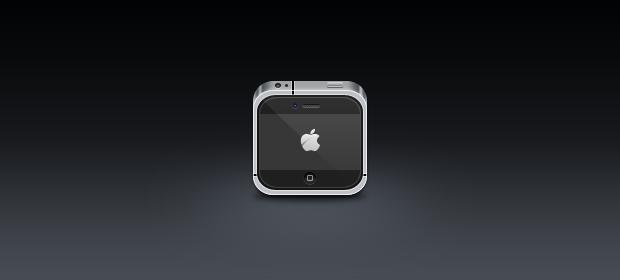 Mini iPhone 4 Icon PSD