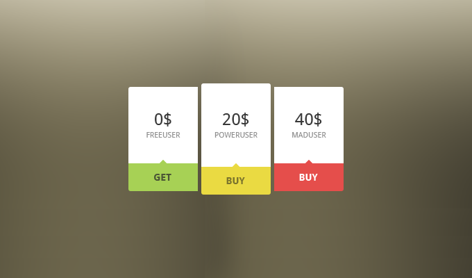 Mini Price Table PSD