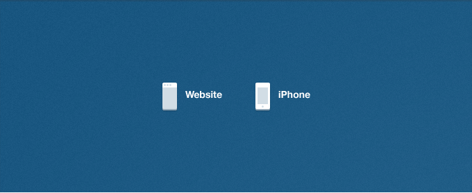 Minimal Website and iPhone Icons PSD