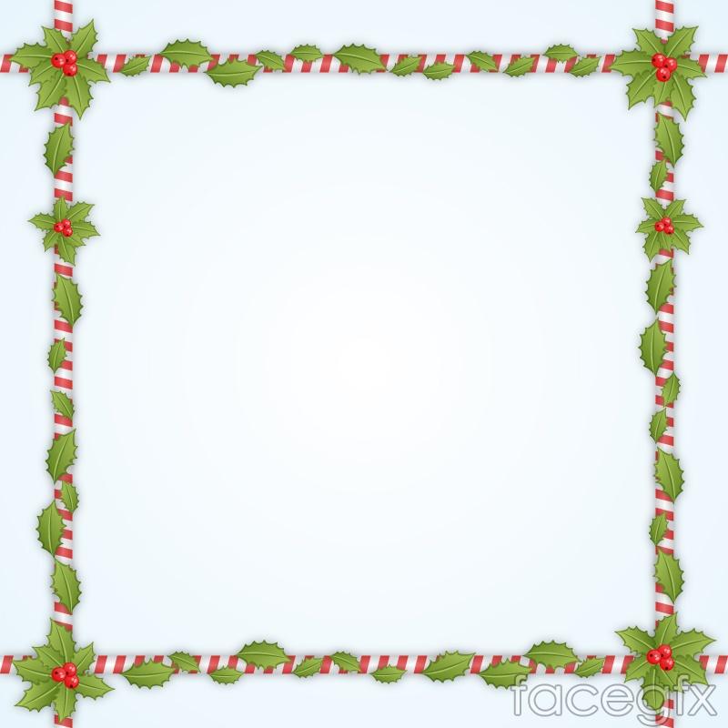 Free download Mistletoe square borders vector . Free vector includes ...