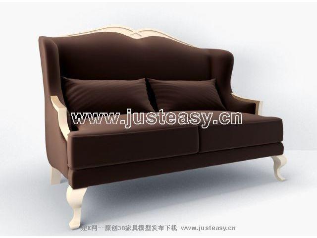 Modern Chinese Sofa 3D Model