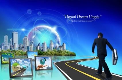 modern information business psd layered