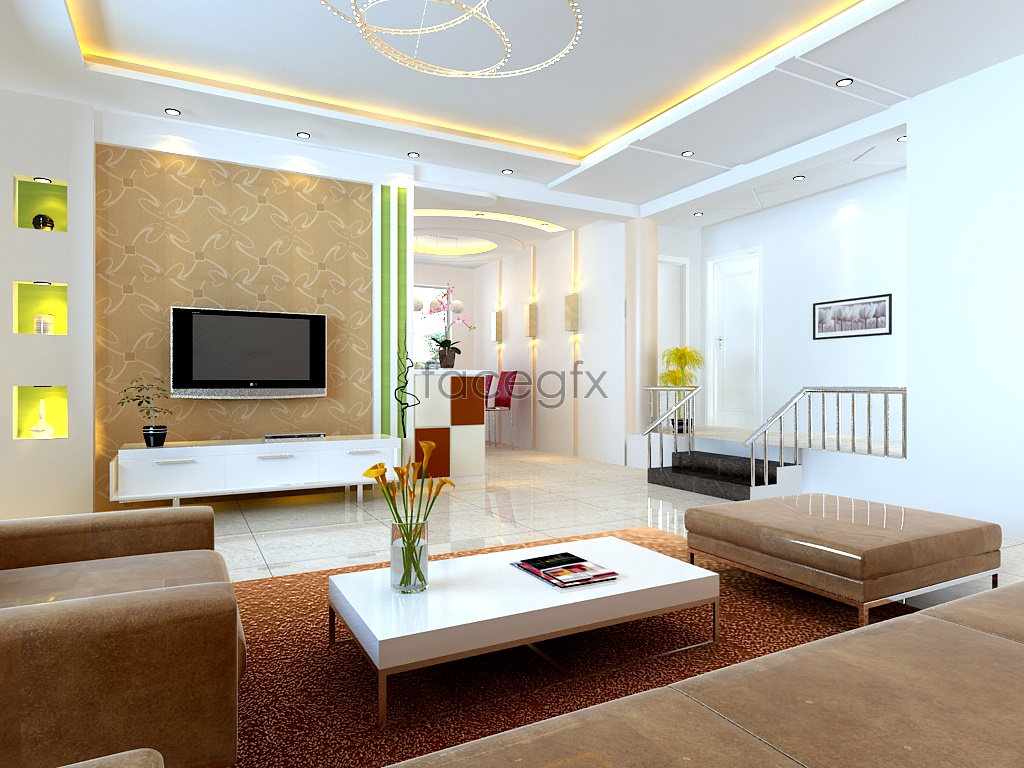 Living Room Model Modern Minimalist Living Room 3D Model  Over Millions Vectors