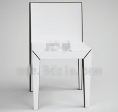 Modern pure white backed chairs 3D Model
