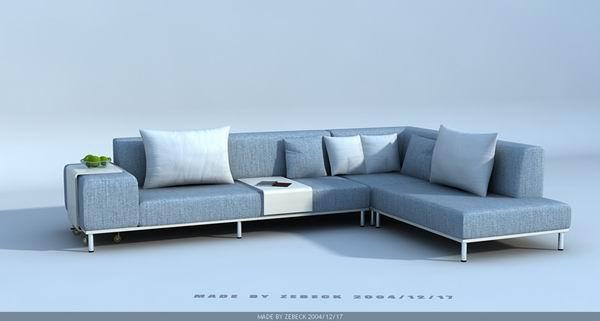 Modern style sofa 3d model – Over millions vectors, stock photos, hd ...