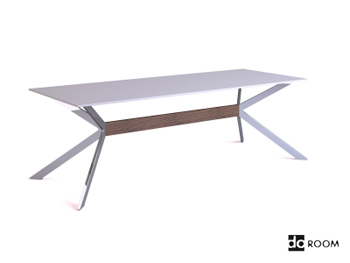 Modern white unique bracket table 3D Model