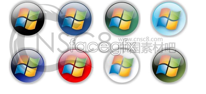 Multi-color Vista logo icon