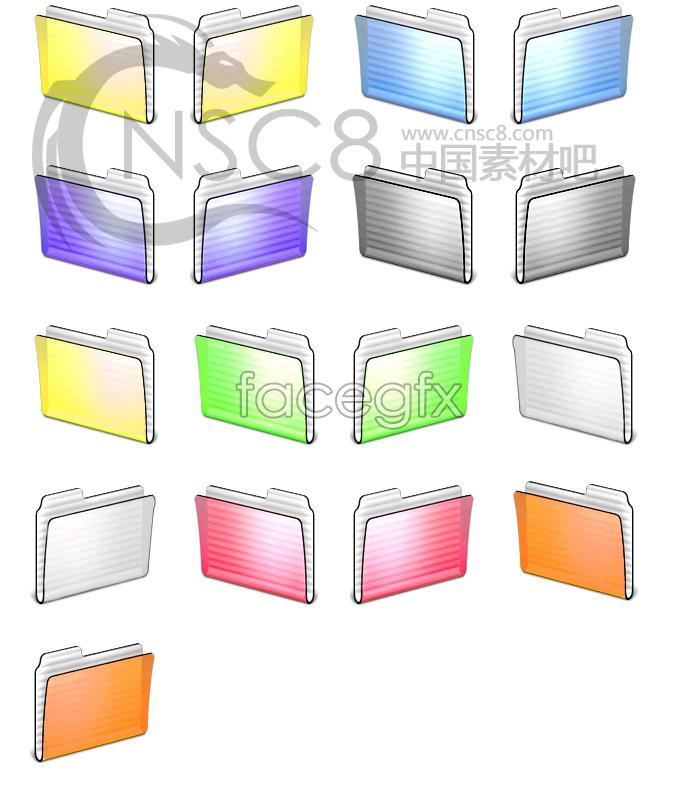 Multicolored stripes folder