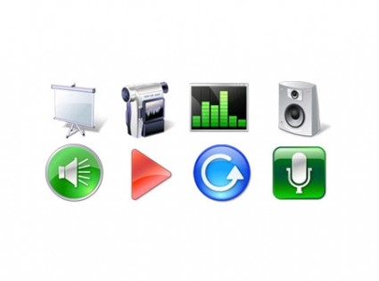Multimedia Icon Set icons pack