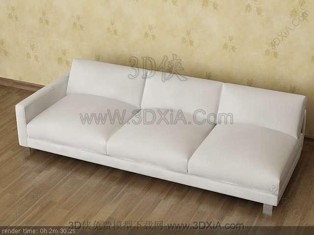 Multiplayer cloth art sofa 3D models-3