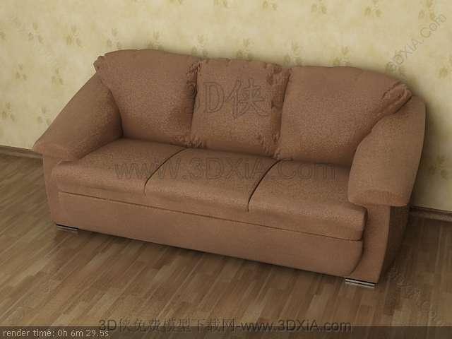 Multiplayer cloth art sofa 3D models-5