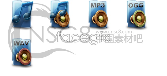 Music format series icons