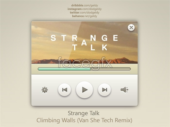 Music Player Templates To Design A Web Page Source File Psd