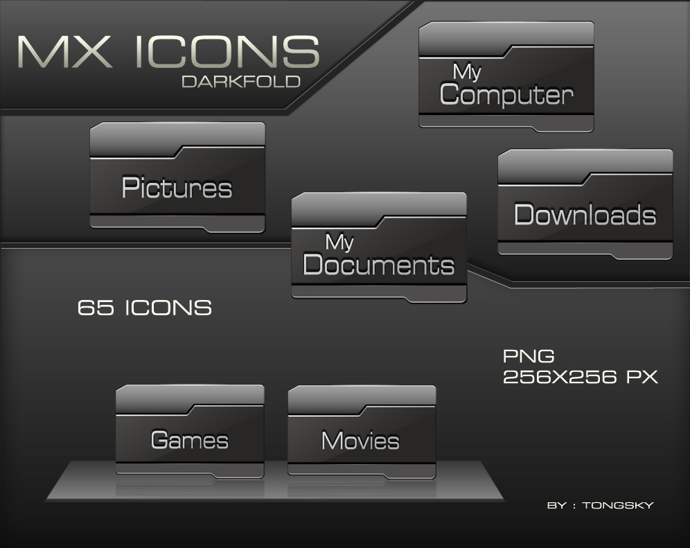 MX Icons DARKFOLD