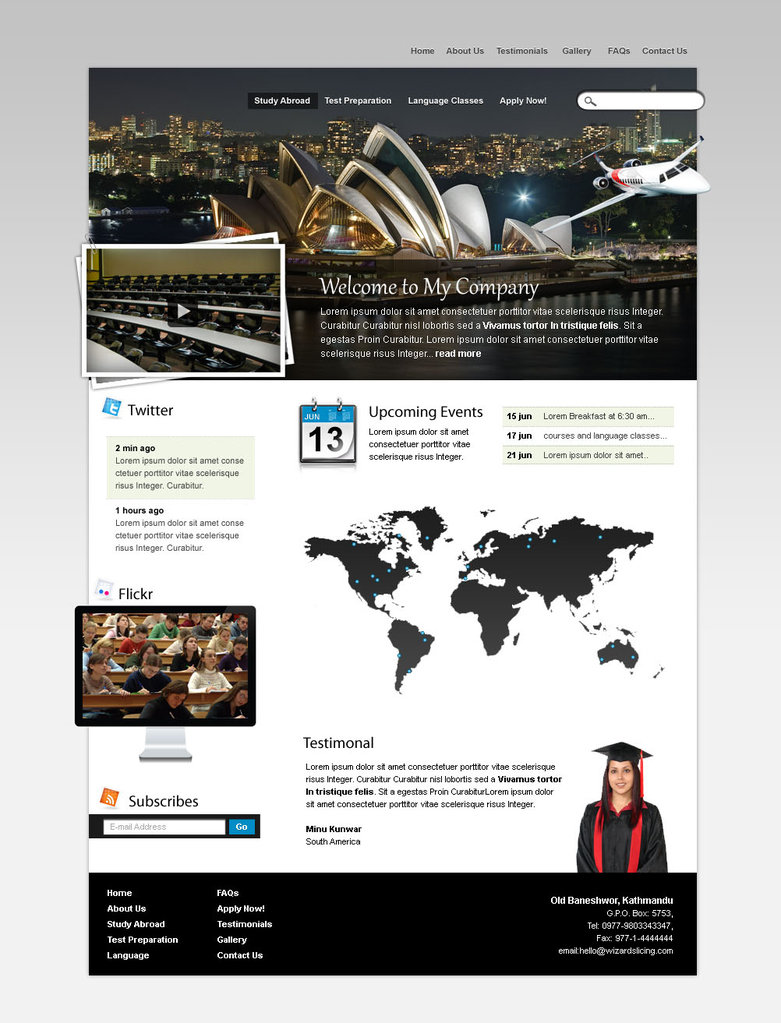 my college psd template