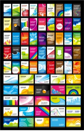 n a variety of cheerful card background vector