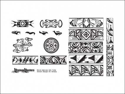 Native american pottery patterns over millions vectors stock native american pottery patterns toneelgroepblik Images