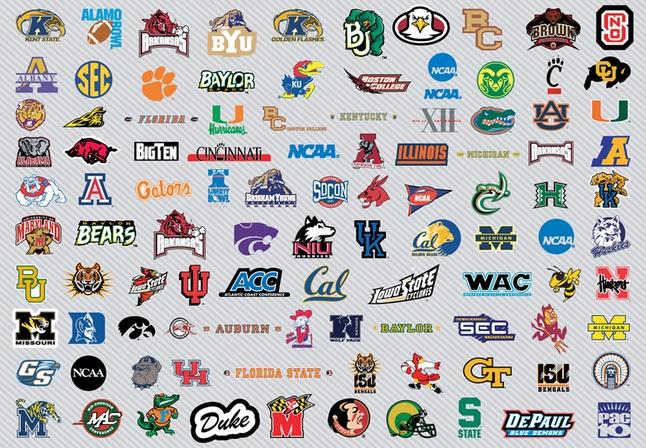 NCAA Basketball Logos Pt1 vector free