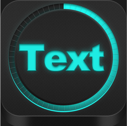 Neon App icon style PSD Format